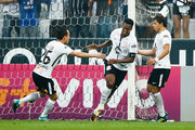 Jo #07 of Corinthians celebrates their first goal during the match between Corinthians and Vasco da Gama for the Brasileirao Series A 2017 at Arena Corinthians Stadium on September 17, 2017 in Sao Paulo, Brazil.
