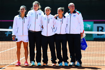 Corrado Barazzutti Spain v Italy: Fed Cup World Group Play-off Round - Day One
