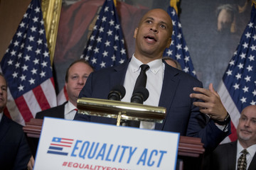 Cory Booker Congressional Democrats Introduce the Equality Act of 2017 Supporting the LGBT Community Against Discrimination