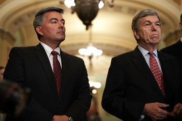 Cory Gardner Senate Lawmakers Address The Press After Their Weekly Policy Luncheons