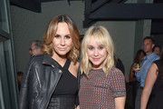 TV personality Keltie Knight (L) and actress Becca Tobin attend Cosmopolitan's 50th Birthday Celebration at Ysabel on October 12, 2015 in West Hollywood, California.