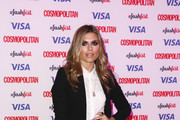 Zoe Hardman attends the Catwalk to Cosmopolitan fashion show as part of the Cosmopolitan FashFest at Battersea Evolution on September 17, 2015 in London, England.