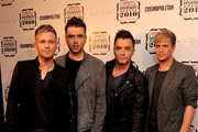 (L-R) Nicky Byrne, Mark Feehily Shane Filan and Kian Egan of Westlife arrive for the 'Cosmopolitan Ultimate Women Of The Year Awards 2010' at Banqueting House on November 2, 2010 in London, England.