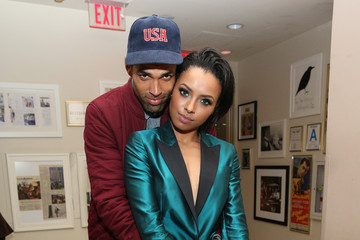 Cottrell Guidry Kat Graham Stars at Warner Music Group's Party Celebration