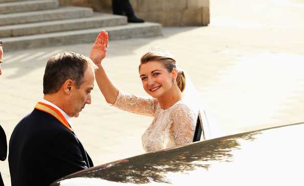 The Wedding Of Prince Guillaume Of Luxembourg & Stephanie de Lannoy - Official Ceremony [photograph,ceremony,yellow,event,marriage,wedding,bride,happy,photography,tradition,wedding,wedding ceremony,luxembourg,church,stephanie,guillaume of luxembourg stephanie de lannoy - official ceremony,jehan de lannoy,prince,belgian countess,guillaume of luxembourg]