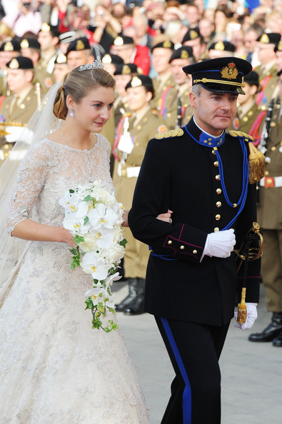 The Wedding Of Prince Guillaume Of Luxembourg & Stephanie de Lannoy - Official Ceremony [stephanie,guillaume of luxembourg stephanie de lannoy - official ceremony,jehan de lannoy,prince,belgian countess,guillaume of luxembourg,event,fashion,ceremony,dress,uniform,tradition,formal wear,wedding,smile,wedding dress,luxembourg,wedding,wedding ceremony,ceremony]