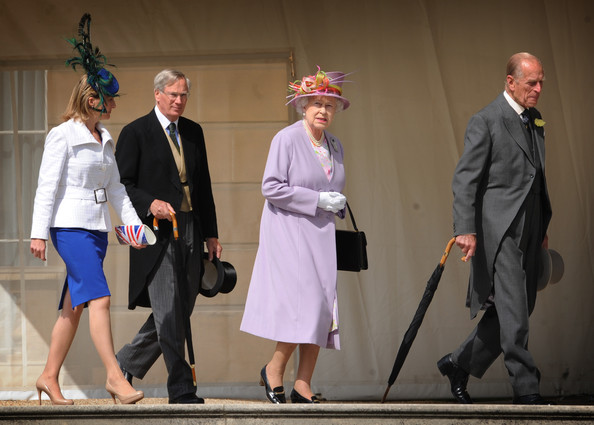 Countess of Wessex (L-R) Sophie Rhys-Jones, Countess of Wessex, Prince Henry, Duke of Gloucester, Queen Elizabeth II and Prince Phillip, Duke of Edinburgh arrive at the first of this year's royal garden parties held in the grounds of Buckingham Palace on June 29, 2011 in London, England.