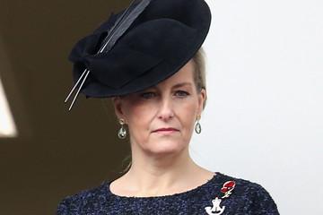 Countess of Wessex The Royal Family Lay Wreaths at the Cenotaph on Remembrance Sunday