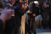 Ricky Skaggs hugs his wife, Sharon White during the 2018 Country Music Hall of Fame and Museum Medallion Ceremony honoring inductees Johnny Gimble, Ricky Skaggs and Dottie West at Country Music Hall of Fame and Museum on October 21, 2018 in Nashville, Tennessee.