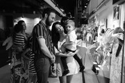 Image has been converted to black and white.) Kacey Musgraves and Ruston Kelly attend the Country Music Hall of Fame and Museum opening of new exhibition, Kacey Musgraves: All of the Colors, at Country Music Hall of Fame and Museum on July 01, 2019 in Nashville, Tennessee.