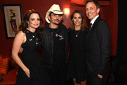 (L-R) Kimberly Williams-Paisley, Brad Paisley, Alexi Ashe and Seth Meyers attend The Country Music Hall Of Fame & Museum All For The Hall New York Benefit Concert at PlayStation Theater on October 6, 2015 in New York City.