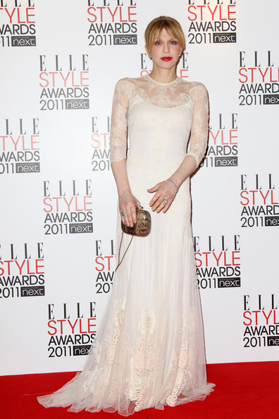 Courtney Love (UK TABLOID NEWSPAPERS OUT) Courtney Love poses in front of the winners boards at the ELLE Style Awards 2011 held at The Grand Connaught Rooms on February 14, 2011 in London, England.