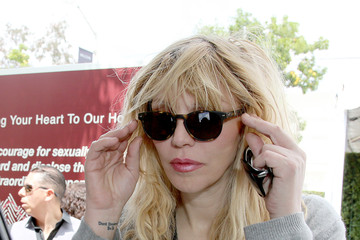 Courtney Love John Varvatos Sunglasses At The 11th Annual Stuart House Benefit