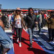 Courtney Sixx Celebrities At The Monster Energy NASCAR Cup Series Race At Auto Club Speedway