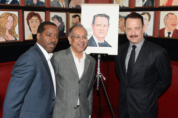 Courtney Vance Tom Hanks Honored with a Caricature in NYC