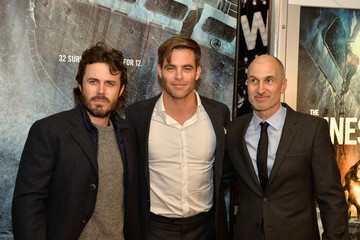 Craig Gillespie Boston Embraces Chris Pine and Casey Affleck at the Finest Hours Special Screening for the Hometown Crowd