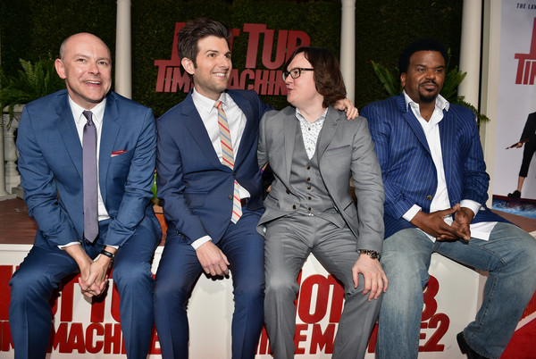 'Hot Tub Time Machine 2' Premieres in Westwood [suit,event,white-collar worker,team,premiere,formal wear,hot tub time machine 2,actors,craig robinson,adam scott,clark duke,l-r,paramount pictures,red carpet,premiere,premiere]