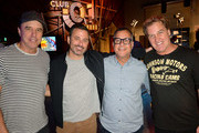 "Kevin Nealon, Jimmy Kimmel, Kent Alterman and Jim Florentine attend the ""Crank Yankers"" 2019 Premiere Party at Two Bit Circus on September 24, 2019 in Los Angeles, California."