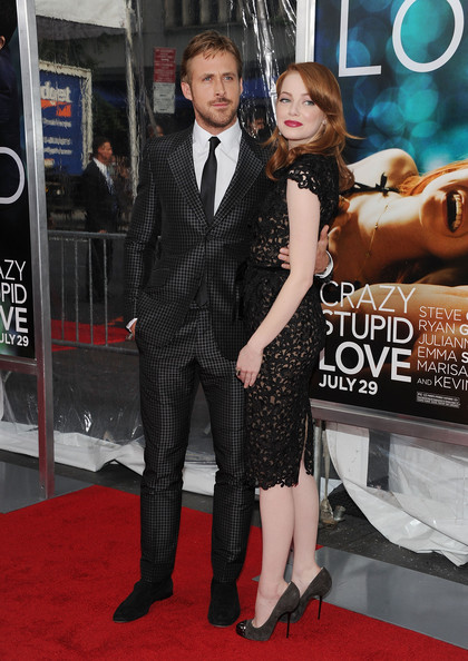 "Actor Ryan Gosling and actress Emma Stone attend the ""Crazy, Stupid, Love."" World Premiere at the Ziegfeld Theater on July 19, 2011 in New York City."