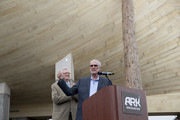 Answers in Genesis CEO and founder Ken Ham speaks at a ribbon cutting at Ark Encounter July 5, 2016 in Williamstown, Kentucky. Ark Encounter is a theme park centered around a 510 foot long reproduction of Noah's Ark.