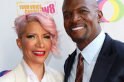 Rebecca King-Crews and Terry Crews attend the Creative Coalition's Annual Television Humanitarian Awards Gala 2019 at Ocean Prime on September 21, 2019 in Beverly Hills, California.