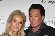"""Kathleen McCrone (L) and entertainer Wayne Newton attend the grand opening of """"Criss Angel MINDFREAK"""" at Planet Hollywood Resort & Casino on January 19, 2019 in Las Vegas, Nevada."""