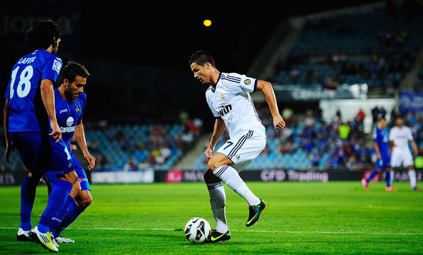 Real Madrid Vs Getafe 2012: Cristiano Ronaldo Photos Photos