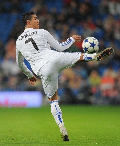 Cristiano Ronaldo Cristiano Ronaldo Of Real Madrid Controls The Ball