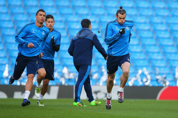 Cristiano Ronaldo Real Madrid Training Session and Press Conference