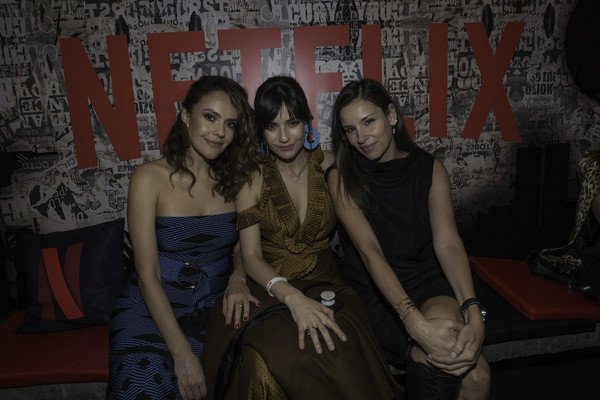 Netflix 'Distrito Salvaje' Premiere [distrito salvaje premiere,social group,fun,lady,friendship,event,flash photography,dress,photography,party,darkness,netflix distrito salvaje premiere after party on october,angela vergara,cristina uma\u00e3,marcela mar,pose,bogota,colombia,netflix]