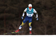 Marcus Hellner of Sweden competes during the Men's 15km and 15km Skiathlon Cross-Country Skiing on day two of the PyeongChang 2018 Winter Olympic Games at Alpensia Cross-Country Centre on February 11, 2018 in Pyeongchang-gun, South Korea.