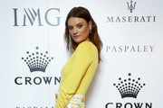 Montana Cox attends the Crown IMG Tennis Party on January 19, 2020 in Melbourne, Australia.
