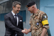 Prince Frederik of Denmark visits at the border village of panmunjom between South and North Korea in the demilitarized zone (DMZ) on May 13, 2012, South Korea. The Crown Prince and Crown Princess of Denmark are on a six-day visit to South Korea.