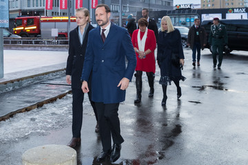 Crown Prince Haakon Of Norway Norwegian Royals Attend Christmas Luncheon in Oslo