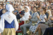 King Carl Gustaf of Sweden, Queen Silvia of Sweden, Prince Carl Philip of Sweden, Princess Sofia of Sweden and Princess Madeleine of Sweden attend the celebrations of Crown Princess Victoria of Sweden's 40th birthday at Borgholm IP on July 14, 2017 in Borgholm, Sweden.