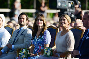 Prince Carl Philip of Sweden, Princess Sofia of Sweden, Princess Madeleine of Sweden are seen on the occasion of The Crown Princess Victoria of Sweden's 42nd birthday celebrations on July 14, 2019 in Oland, Sweden.