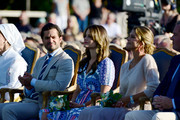 Prince Carl Philip of Sweden, Princess Sofia of Sweden, Princess Madeleine of Sweden and her husband Chris O'Neill are seen on the occasion of The Crown Princess Victoria of Sweden's 42nd birthday celebrations on July 14, 2019 in Oland, Sweden.