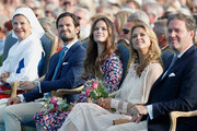 Queen Silvia of Sweden, Prince Carl Philip of Sweden, Princess Sofia of Sweden, Princess Madeleine of Sweden and her husband Chris O'Neill during the occasion of The Crown Princess Victoria of Sweden's 41st birthday celebrations at Borgholm Sports Arena on July 14, 2018 in Oland, Sweden.