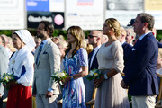 Queen Silvia of Sweden, Prince Carl Philip of Sweden, Princess Sofia of Sweden, Princess Madeleine of Sweden and her husband Chris O'Neill are seen on the occasion of The Crown Princess Victoria of Sweden's 42nd birthday celebrations on July 14, 2019 in Oland, Sweden.
