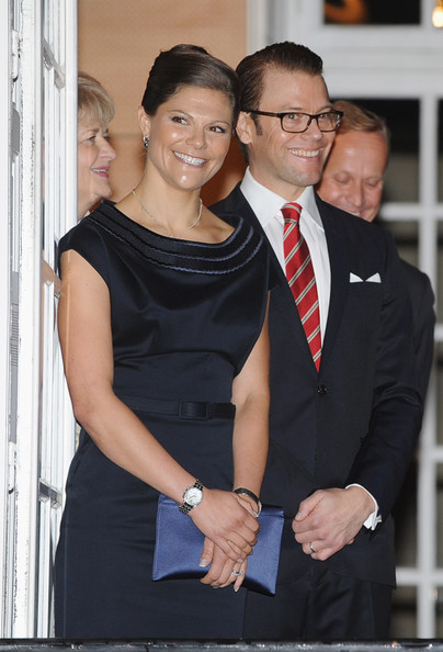 Princess Victoria of Sweden and Prince Daniel of Sweden arrive for a Reception at Swedish Institute during an official trip to France on September 26, 2010 in Paris, France.