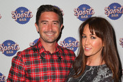 Harry Kewell and his wife Sheree Murphy arrive at the Crown Sports Bar Launch at Crown Casino on March 6, 2014 in Melbourne, Australia.