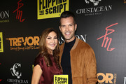 "Heather McDonald and AJ Gibson attend the Crustacean Beverly Hills Hosts AJ Gibson's ""Flipping The Script"" Book Launch And Fundraiser For The Trevor Project at Crustacean on October 1, 2018 in Beverly Hills, California."