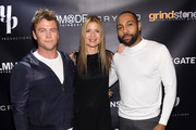 """Luke Hemsworth, Jill Hennessy and Jeremie Harris attend the """"Crypto"""" New York Screening at AMC Empire 25 on April 12, 2019 in New York City."""