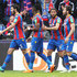 Andros Townsend Wilfried Zaha Photos - James Tomkins of Crystal Palace celebrates after scoring his sides second goal during the Premier League match between Crystal Palace and Brighton and Hove Albion at Selhurst Park on April 14, 2018 in London, England. - Crystal Palace vs. Brighton And Hove Albion - Premier League