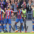 Patrick van Aanholt Wilfried Zaha Photos - Wilfried Zaha of Crystal Palace celebrates with teammates after scoring his sides third goal during the Premier League match between Crystal Palace and Brighton and Hove Albion at Selhurst Park on April 14, 2018 in London, England. - Crystal Palace vs. Brighton And Hove Albion - Premier League