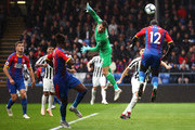 Mamadou Sakho of Crystal Palace wins a header during the Premier League match between Crystal Palace and Newcastle United at Selhurst Park on September 22, 2018 in London, United Kingdom.