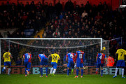 Hatem Ben Arfa of Newcastle United scores their third goal during the Barclays Premier League match between Crystal Palace and Newcastle United and Selhurst Park on December 21, 2013 in London, England.