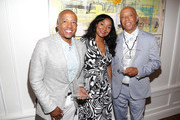 Kevin Liles, Joi Brown and Russell Simmons attend the Culture Creators 2nd Annual Awards Brunch Presented By Motions Hair And Ciroc at Mr. C Beverly Hills on June 24, 2017 in Beverly Hills, California.