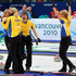Anna Le Moine Cathrine Lindah Photos - (L-R) Anette Norberg, Eva Lund, Cathrine Lindahl and Anna Le Moine celebrate after victory over Canada in the women's gold medal curling game between Canada and Sweden on day 15 of the Vancouver 2010 Winter Olympics at Vancouver Olympic Centre on February 26, 2010 in Vancouver, Canada. - Olympic Curling - Day 15