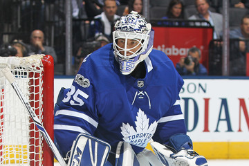 Curtis McElhinney Detroit Red WIngs v Toronto Maple Leafs